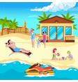 sea resort recreation background vector image vector image