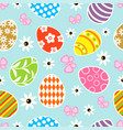 seamless easter background blue vector image