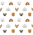 seamless pattern with faces of dogs of various vector image vector image