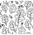 Seamless pattern with oak leaves and acorns