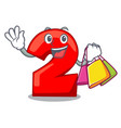 shopping character number two on wooden door vector image