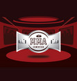silver mma champion badge design vector image