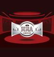 silver mma champion badge design vector image vector image