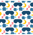 sleep icons seamless pattern vector image vector image