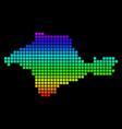 spectrum pixel dotted crimea map vector image
