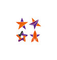 star icon with slightly rounded corners vector image vector image