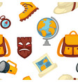 traveling and adventures symbols set boots and vector image vector image