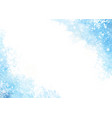 watercolor abstract blue splash with snowflake vector image