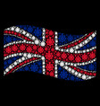 waving british flag mosaic of chemical industry vector image vector image