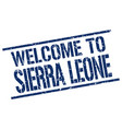 welcome to sierra leone stamp vector image vector image