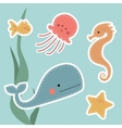 Who lives in the water vector image vector image