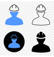 worker eps icon with contour version vector image