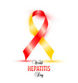 world hepatitis day background banner design with vector image