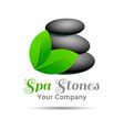 Spa Stone logo design Template for your business vector image