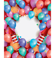 Happy Birthday Card with Flying Balloons vector image