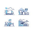 moving and storage in warehouse vector image