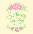 mothering sunday card vector image