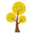 Abstract Cartoon Autumn Tree vector image vector image