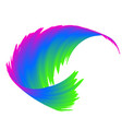 abstract colorful rainbow wave background vector image vector image
