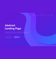 abstract geometric purple wave landing page vector image