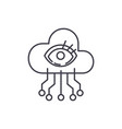 artificial intelligence visualization line icon vector image vector image