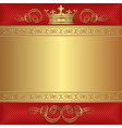 background with crown vector image vector image