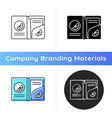 branded paper folder icon vector image vector image