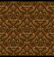 brown vintage background vector image vector image