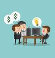 businessman requesting crowfunding cartoon vector image vector image