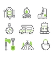 Camping icon isolated vector image