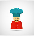 chef in hat vector image