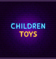 children toys neon text vector image vector image
