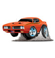 classic american muscle car cartoon vector image vector image