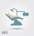 dentist chair orthodontics flat icon vector image