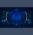 drone interface vector image vector image