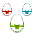 Easter set eggs wrapping colorful bows vector image vector image