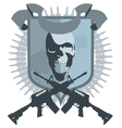 emblem gangster vector image vector image