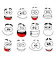 face emotion icon emoticon smiley and emoji vector image