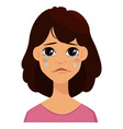face expressions of a cute woman vector image vector image