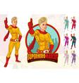 female superhero mascot for company vector image vector image