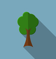 Flat design modern of tree icon with long shadow vector image vector image
