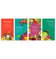 flyer collection with exotic tropical fruits vector image vector image