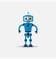 funny robot icon in flat style isolated vector image