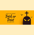 halloween banner with ghost and scary bats vector image vector image