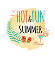 hot and fun summer icon isolated on white vector image