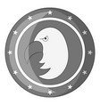 independence day eagle icon monochrome vector image vector image