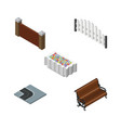 isometric urban set of sitting barricade barrier vector image vector image