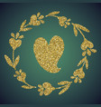 jewelry gold glitter of love heart flower vector image vector image