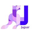 letter j - jaguar vector image