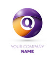 letter q logo symbol in the colorful circle vector image vector image